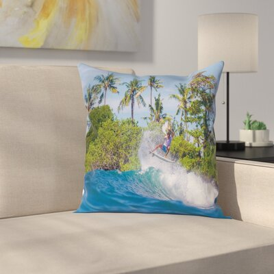 Bali Island Hobby Square Cushion Pillow Cover Size: 18 x 18