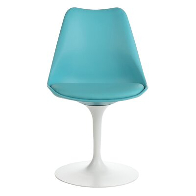 Ceniceros Mid-Century Modern Upholstered Dining Chair Upholstery : Light Teal