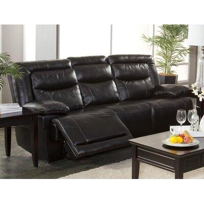 Gurav Reclining Sofa Upholstery: Black