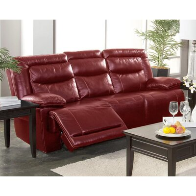 Gurav Reclining Sofa Upholstery: Red