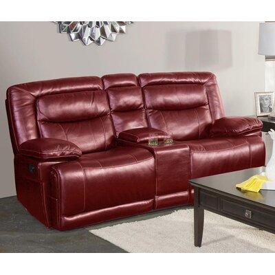 Gurav Reclining Loveseat Upholstery: Red