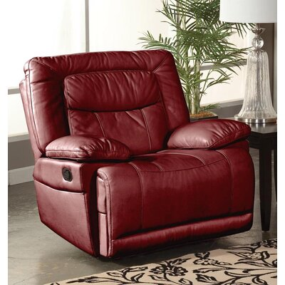 Gurav Manual Glider Recliner Upholstery: Red