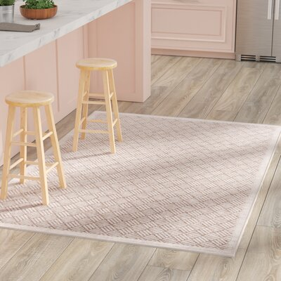Milivoje Tan Geometric Area Rug Rug Size: Rectangle 5 x 76