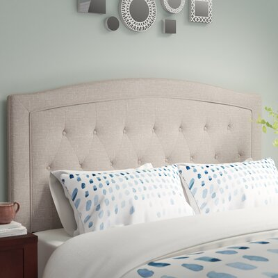 Fredon Upholstered Panel Headboard Size: Queen, Upholstery: Beige