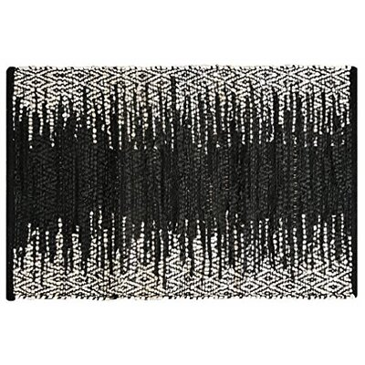 Parkin Recycled Hand-Woven Black Indoor/Outdoor Area Rug