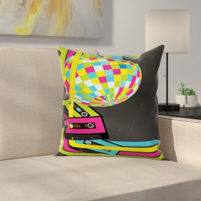 Retro Disco Ball Square Pillow Cover Size: 24 x 24