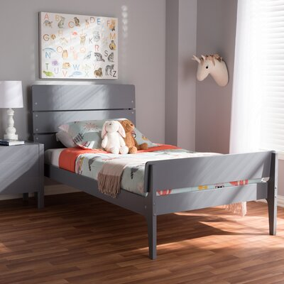 Chinery Twin Platform Bed Color: Gray