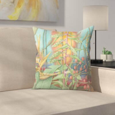 Jungle1 Throw Pillow Size: 18 x 18