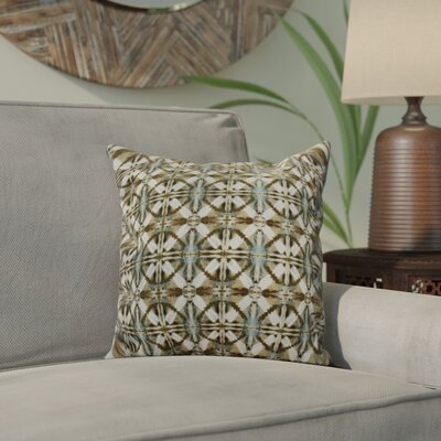 Viet Indoor/Outdoor Throw Pillow Size: 18 H x 18 W, Color: Brown