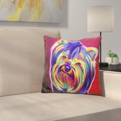 Yorkie Furbie Face Throw Pillow