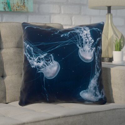 Nathaniel Jellyfish Throw Pillow Size: 18 x 18