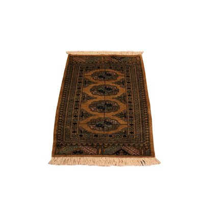 One-of-a-Kind Palomares Hand-Knotted Wool Gold/Black Area Rug