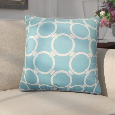 Donatella Geometric Cotton Throw Pillow Color: Light Blue