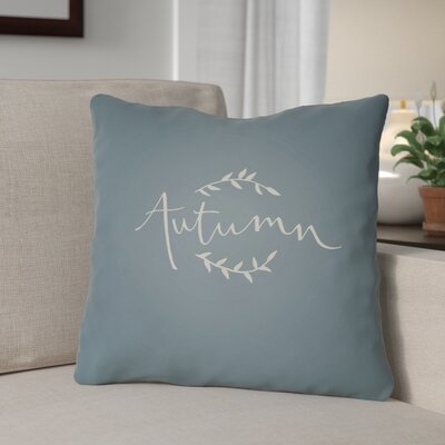 Autumn Indoor/Outdoor Throw Pillow Size: 20 H x 20 W x 4 D, Color: Blue/White