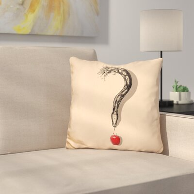 Curious Temptation Throw Pillow