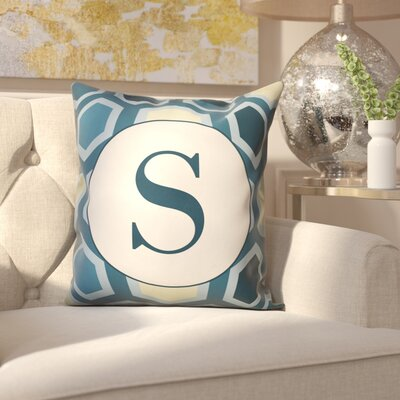 Hartig Hexagon Monogram Pillow Letter: S