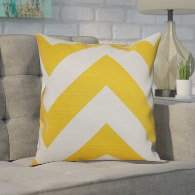 Spadafora 100% Cotton Throw Pillow Color: Yellow / White, Size: 18 H x 18 W