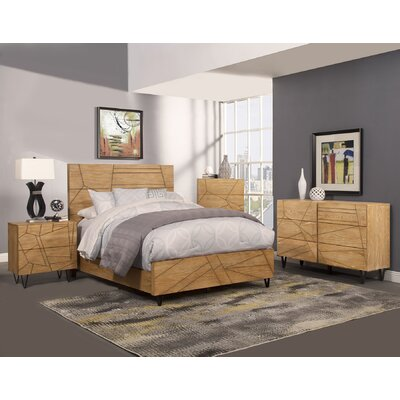 Riverton Panel Headboard Size: California King
