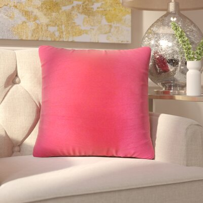 Lindner Solid Throw Pillow Color: Pink