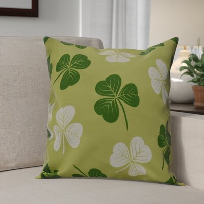 Funky Junky Lucky Throw Pillow Size: 18 H x 18 W, Color: Light Green