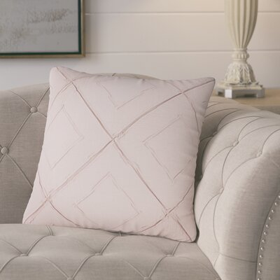 Kingsburg Decorative 100% Cotton Throw Pillow Color: Blush