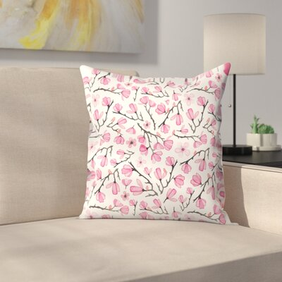 Elena ONeill Cherry Blossom Throw Pillow Size: 14 x 14