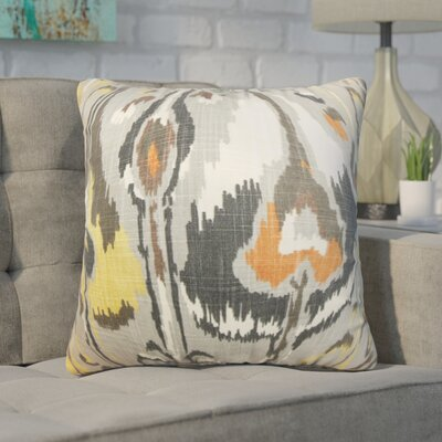 Wingfield Ikat Cotton Throw Pillow Color: Gray