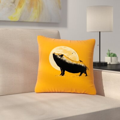 BarmalisiRTB Barking Pig Outdoor Throw Pillow Size: 16 H x 16 W x 5 D