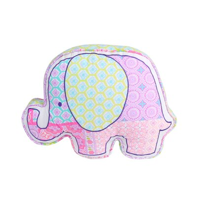Ewert Elephant Shaped Cotton Decorative Throw Pillow