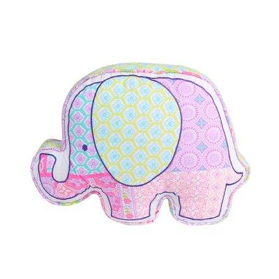 Ewert Elephant Shaped Cotton Decorative Throw Pillow