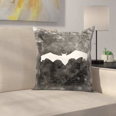 Jetty Printables Bat Halloween Throw Pillow Size: 16 x 16