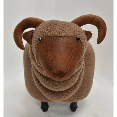 Hodapp Sheep Animal Ottoman Upholstery: Mocha, Color: Espresso