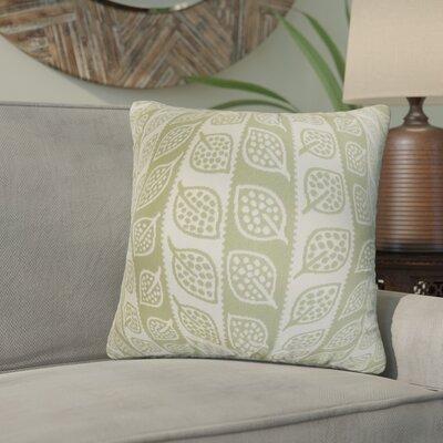 Graysen Foliage Throw Pillow Color: Green