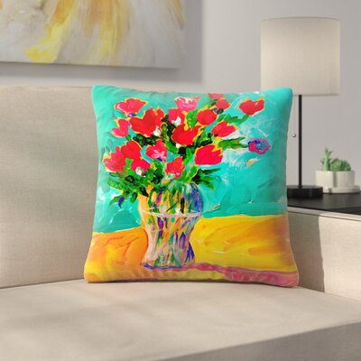 Sunshine Taylor Roses Indoor/Outdoor Throw Pillow Size: 16 x 16