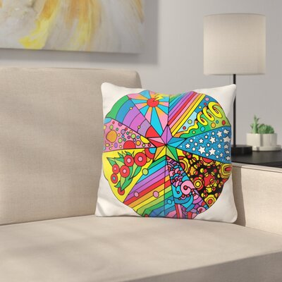 Star Circle Throw Pillow