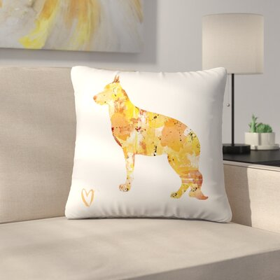 German Shepherd Throw Pillow Size: 14 x 14