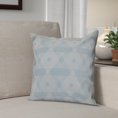 Hanukkah 2016 Decorative Holiday Geometric Outdoor Throw Pillow Size: 18 H x 18 W x 2 D, Color: Light Blue