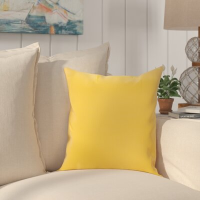 Heger Throw Pillow Color: Sunflower Yellow, Size: 18 x 18