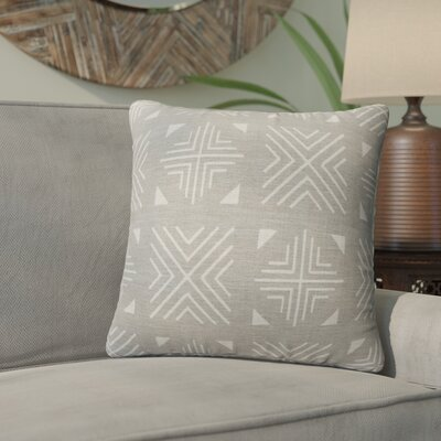 Bemelle Mud Cloth Throw Pillow Size: 24 H x 24 W, Color: Taupe/ Rust
