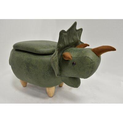 Hodson Dinosaur Animal Storage Ottoman Upholstery: Safari Green