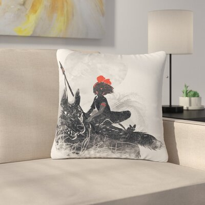 Frederic Levy-Hadida Princess Monokiki Fantasy Illustration Outdoor Throw Pillow Size: 16 H x 16 W x 5 D
