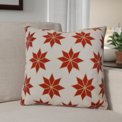 Christmas Decorative Holiday Geometric Print Outdoor Throw Pillow Size: 20 H x 20 W, Color: Red