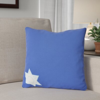 Stars Corner Throw Pillow Size: 18 H x 18 W, Color: Blue