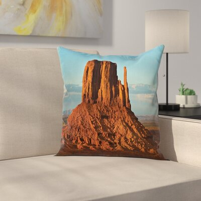 Fabric Monument Valley America Square Pillow Cover Size: 20 x 20