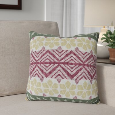 FairIsle Outdoor Throw Pillow Size: 16 H x 16 W, Color: Green