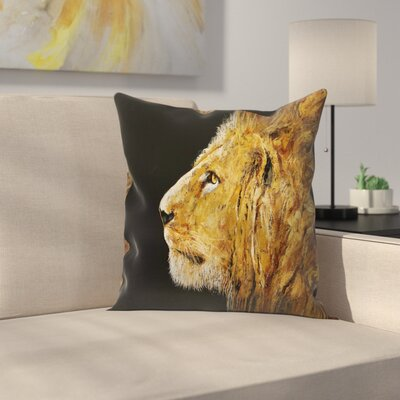 Michael Creese Lion Throw Pillow Size: 20 x 20