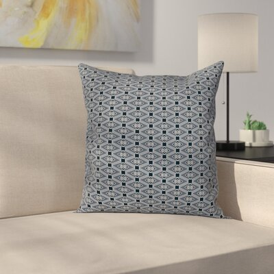Floral Diamond Line Cushion Pillow Cover Size: 16 x 16