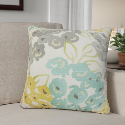 Aliasgar Floral Cotton Throw Pillow