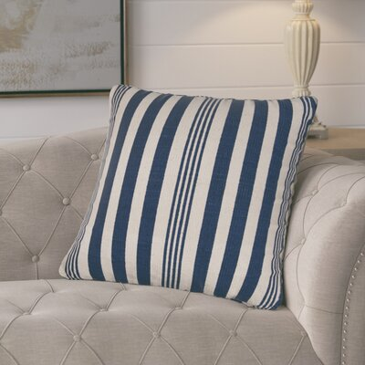 Gladiola Cotton Throw Pillow Color: Blue