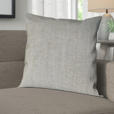 Wagaman Brentwood Woven Decorative Pillow Cover Color: Light Grey